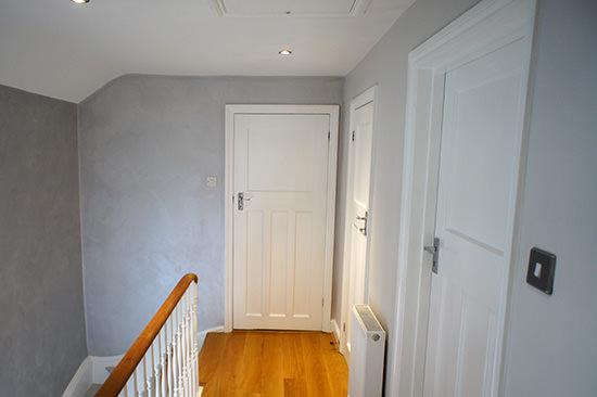 Fantasia Finishes White Paint Hallway In Surrey